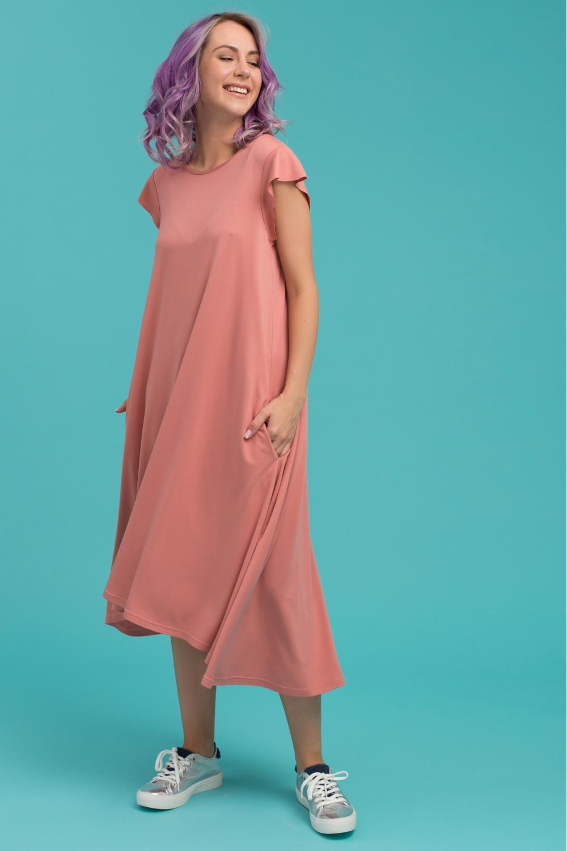c37e980efea Летнее платье для беременных Airy Ma персиковое MilkyMama