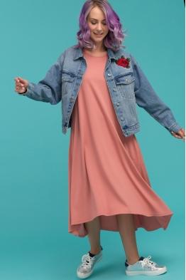 Летнее платье для беременных Airy Ma персиковое