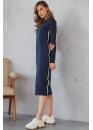 Платье для кормящих мам с лампасами Pure Ma темно-синее