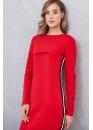 Платье для кормящих мам с лампасами Pure Ma красное (маковое)