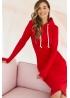 Платье для кормящих мам Hoodie Ma красное (мак)