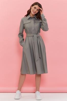 Платье для беременных и кормящих мам Romantic Ma оливковое