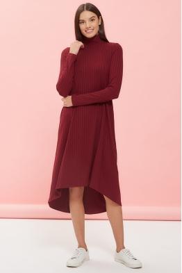 Платье-трапеция для беременных и кормящих мам My Fame вишневое