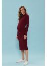 Платье для беременных и кормящих мам Super Ma вишневое