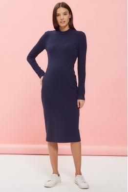 Платье для беременных и кормящих мам Super Ma темно-синее