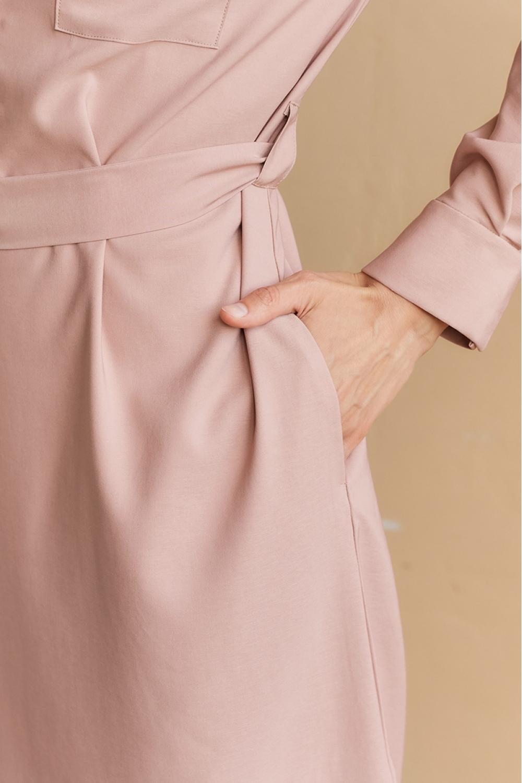 Платье-рубашка для кормящих мам My Summer лиловое