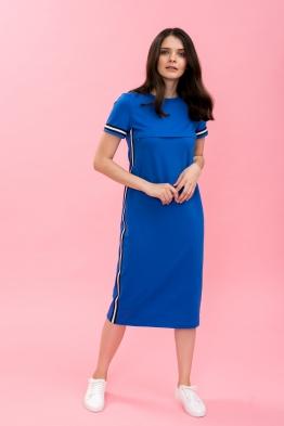 Платье для кормящих мам летнее Pure Ma синее