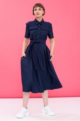 Платье для беременных и кормящих мам Romantic Ma синее