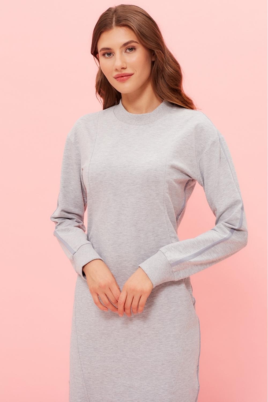 Платье для кормящих мам Sporty Ma серый меланж