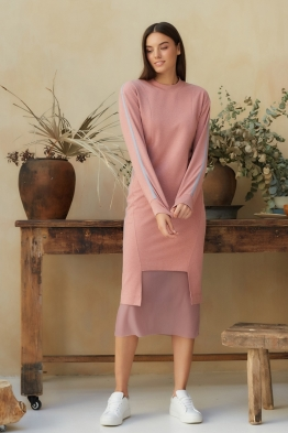 Платье для кормящих мам Sporty Ma розовое