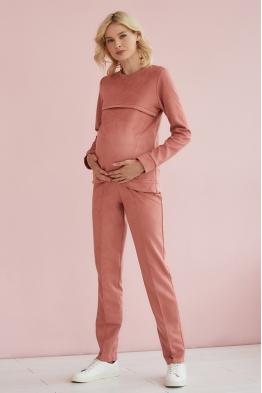 Свитшот для беременных и кормящих мам Gentle Ma розовый