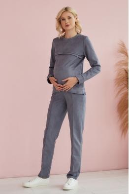 Костюм для беременных и кормящих мам Gentle Ma серый