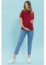 Футболка для беременных и кормящих мам My Care рубиновая