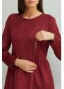Платье для беременных и кормящих мам My Bell марсала