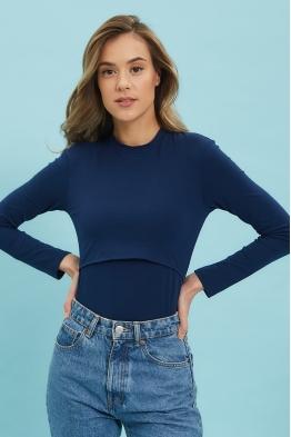 Боди Fantastic Ma темный джинс (темно-синее)
