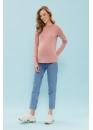 Лонгслив для беременных и кормящих мам Basic Ma розовый