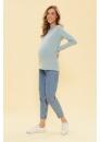 Лонгслив для беременных и кормящих мам Basic Ma снежная мята