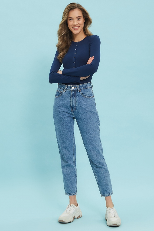 Боди Hot Ma темный джинс (темно-синее)