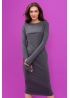 Платье для кормящих мам Pure Ma антрацит, Миди