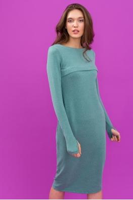 Платье для кормящих мам Pure Ma зеленое