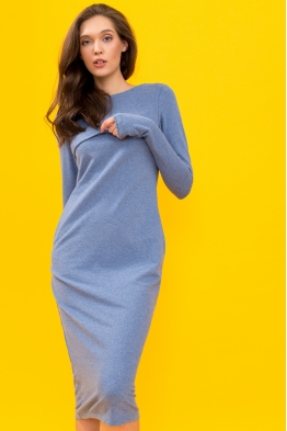 Платье для кормящих мам Pure Ma голубое