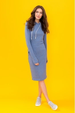 Платье для кормящих мам Hoodie Ma голубое
