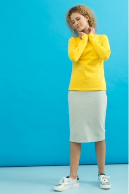 Лонгслив для кормящих мам My Color желтый