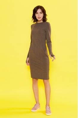 Платье для кормящих мам Love Yu шоколадное