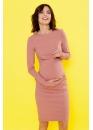 Платье для кормящих мам Love Yu брусничное