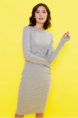 Платье для кормящих мам Love Yu серое
