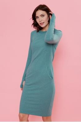 Платье для кормящих мам Love Yu зеленое