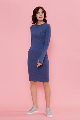 Платье для кормящих мам Love Yu синее