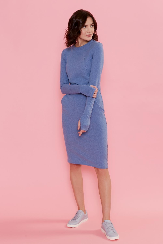 Платье для кормящих мам Love Yu голубое
