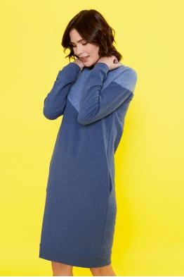 Платье для кормящих мам Follow Ma синее (с голубым)