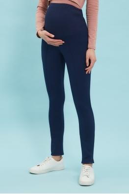Утепленные брюки для беременных My Expectation темно-синие