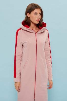 Платье для кормящих мам My Puffy розово-красное