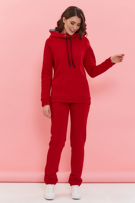 Утепленный костюм для кормящих мам My Buddy красный (маковый) MilkyMama