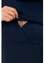 Водолазка для беременных и кормящих синяя